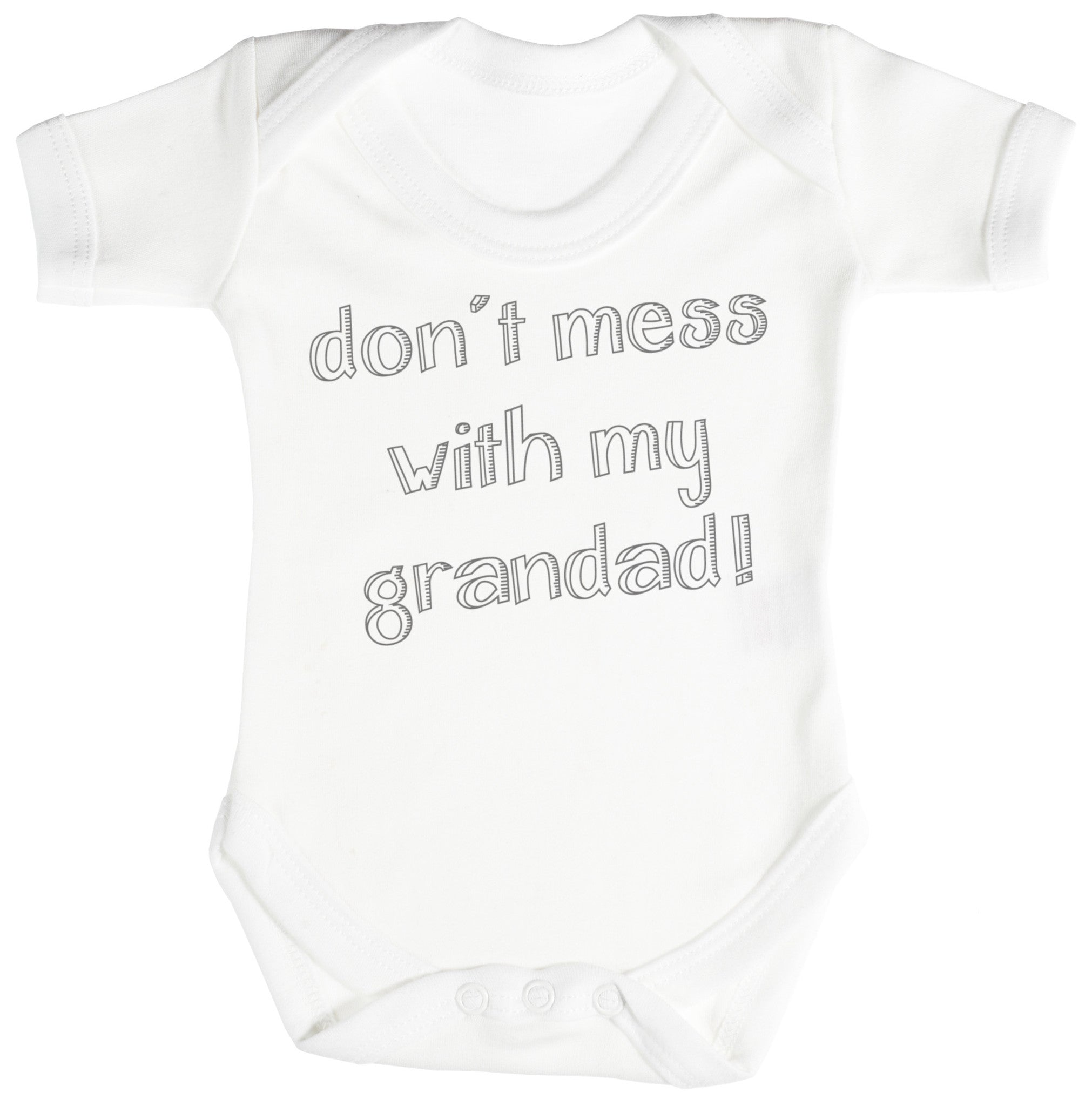 Don't Mess With My Grandad! Baby Bodysuit / Babygrow