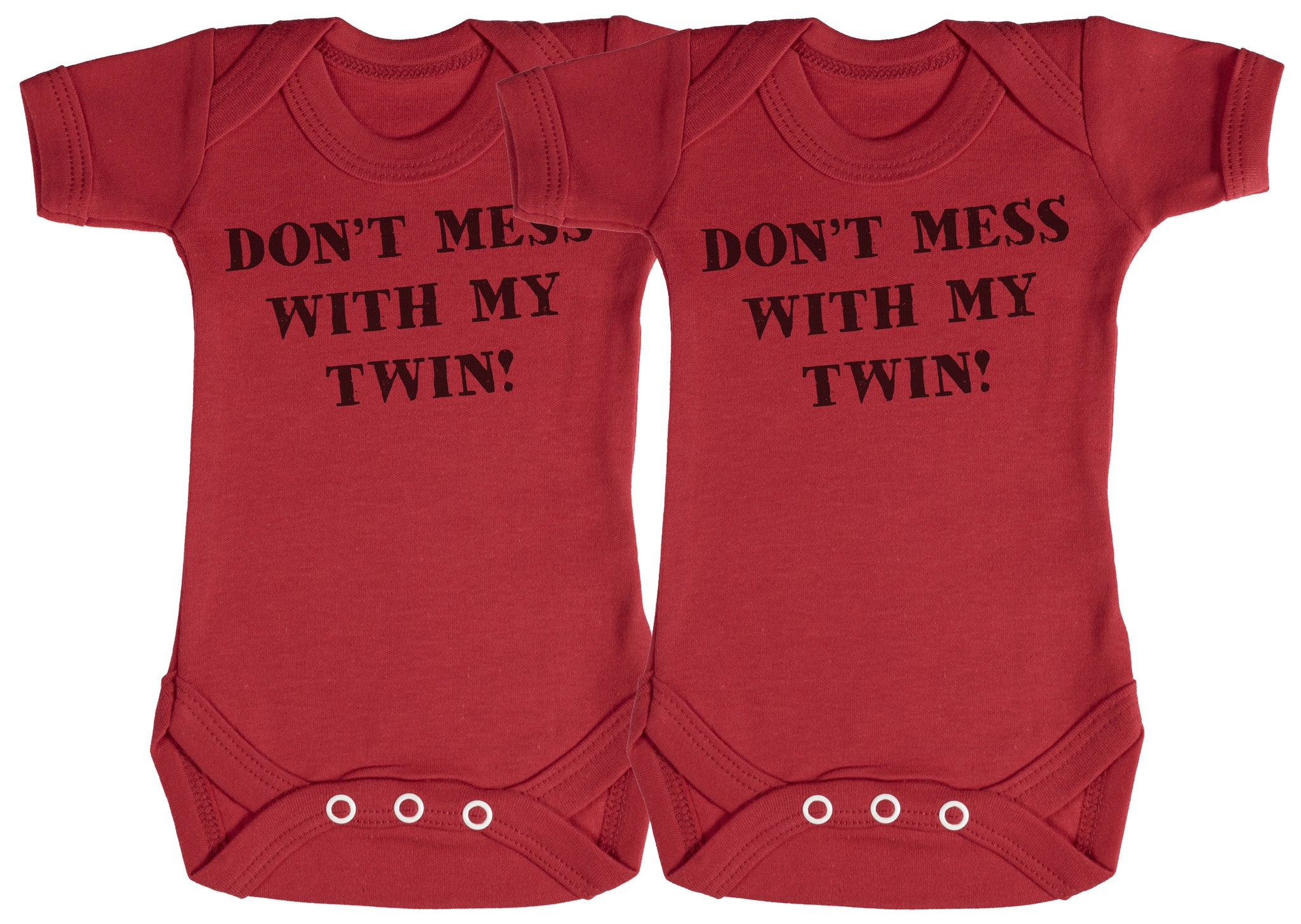 Don't Mess With My Twin Baby Bodysuit / Babygrow