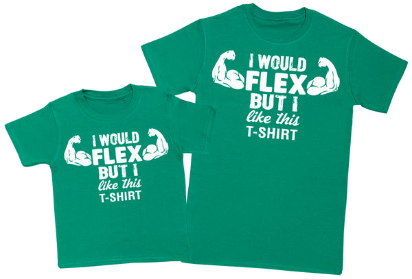 I'd Flex But I Like This Top - Mens T-Shirt & Kids T-Shirt