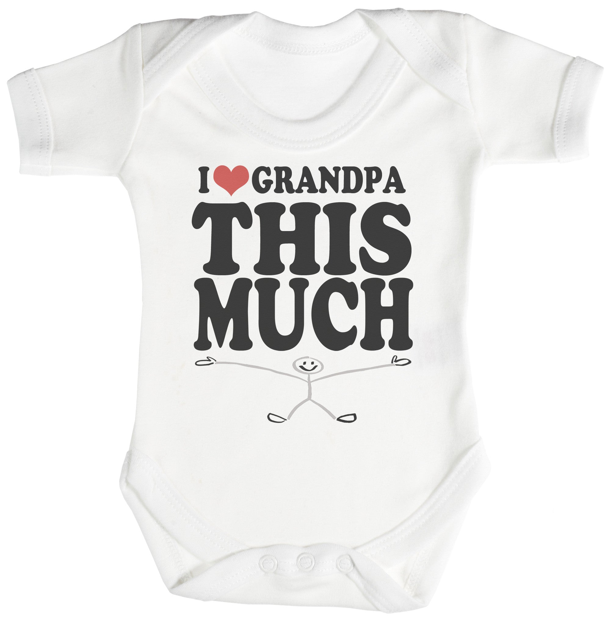 Love Grandpa This Much Baby Bodysuit / Babygrow