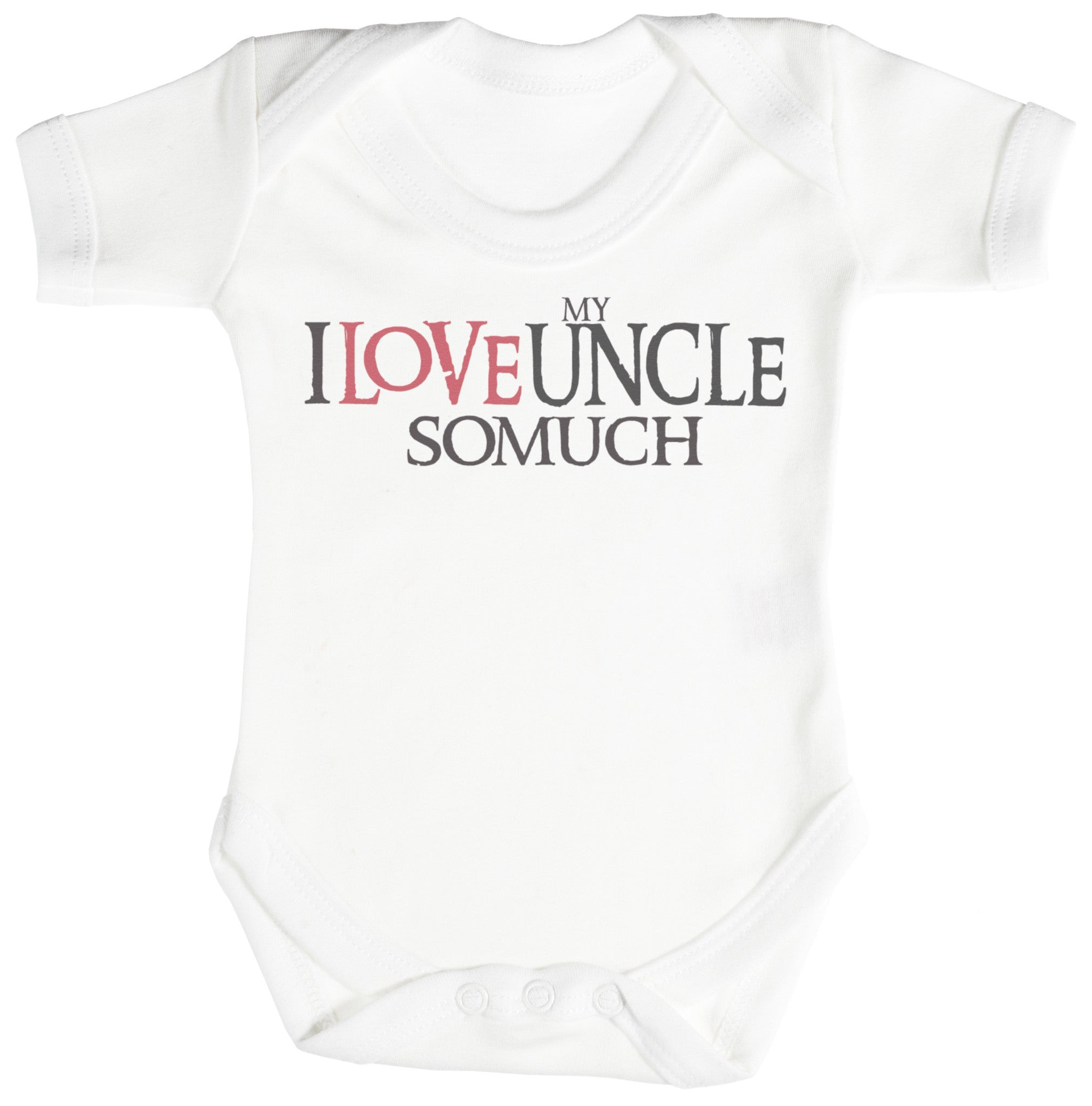 I Love My Uncle So Much Baby Bodysuit / Babygrow
