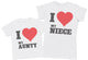 I Love My Niece - Aunty T-Shirt & Kids T-Shirt