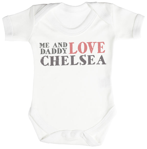 Me & Daddy Text Love Chelsea Baby Bodysuit / Babygrow