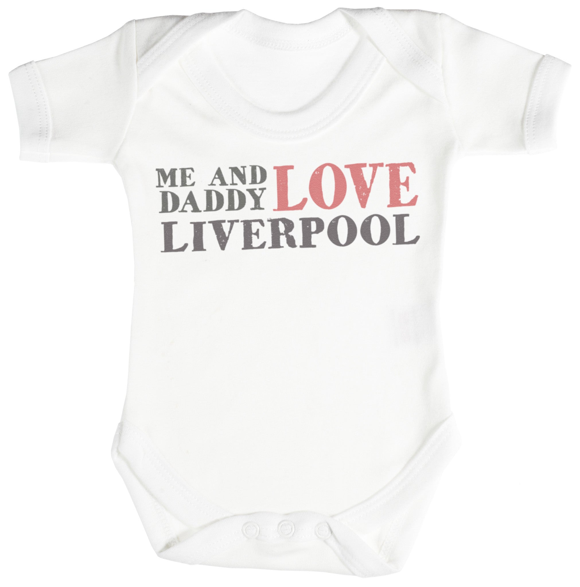 Me & Daddy Text Love Liverpool Baby Bodysuit / Babygrow