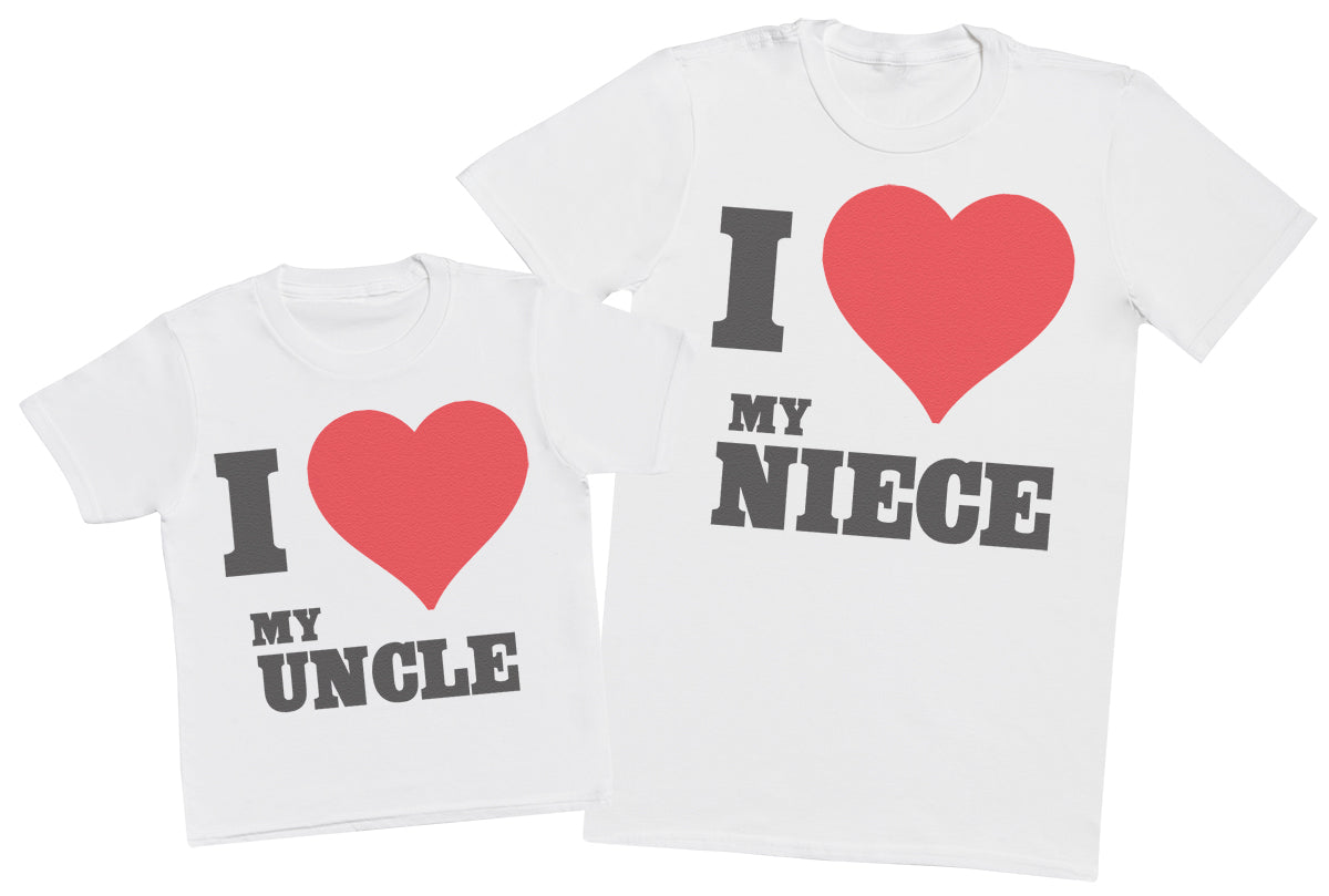 I Love My Niece - Uncle T - Shirt & Kids T - Shirt
