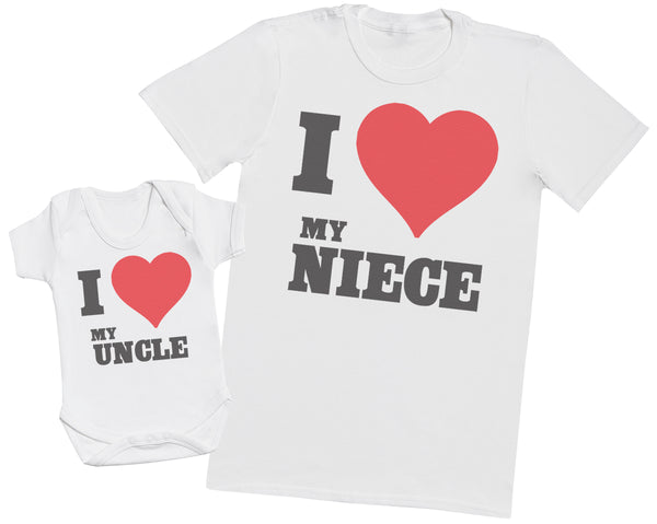 I Love My Niece - Uncle T Shirt & Baby Bodysuit