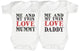 Me & My Twin Love Daddy Mummy Baby Bodysuit / Babygrow