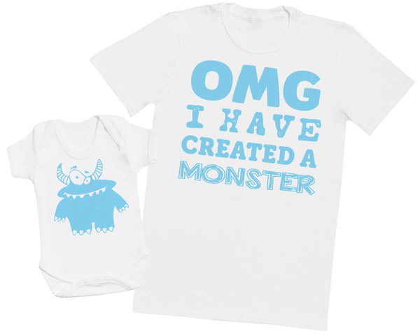 OMG I've Created a Blue Monster! - Mens T Shirt & Baby Bodysuit