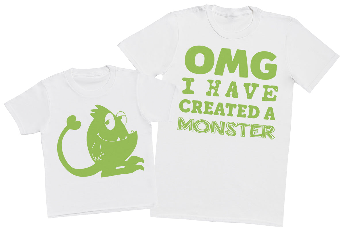 OMG I've Created a Green Monster! - Mens T-Shirt & Kids T-Shirt