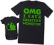 OMG I've Created a Green Monster! - Mens T Shirt & Baby Bodysuit