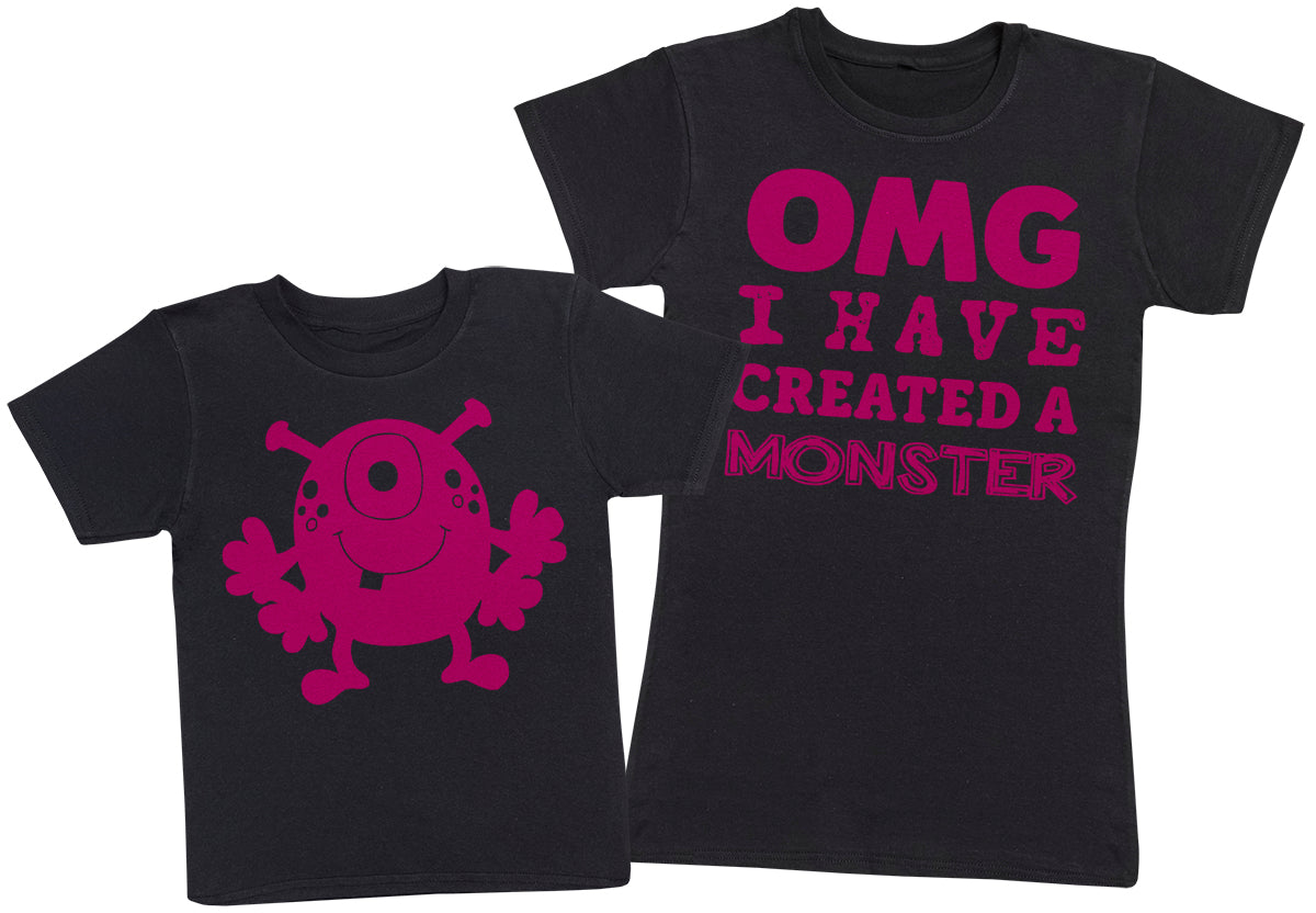 OMG I've Created A Pink Monster! - Womens T-Shirt & Kids T-Shirt