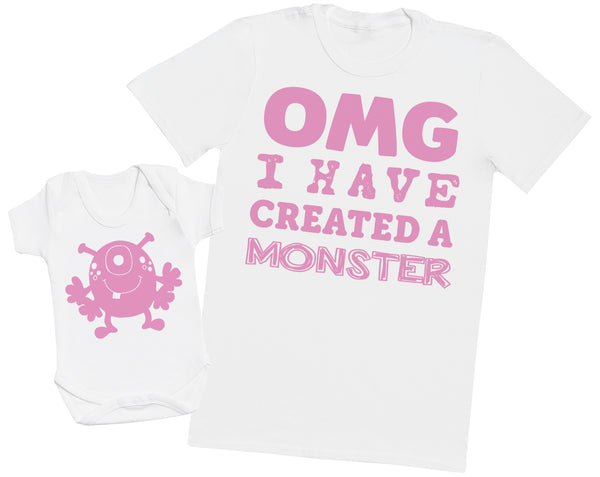 OMG I've Created a Pink Monster! - Mens T Shirt & Baby Bodysuit