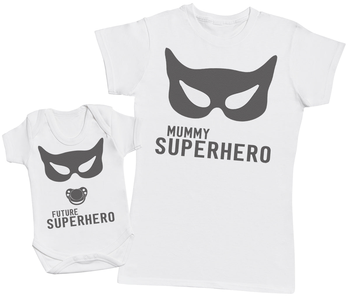 SuperHero Mum- Mothers T-Shirt & Baby Bodysuit