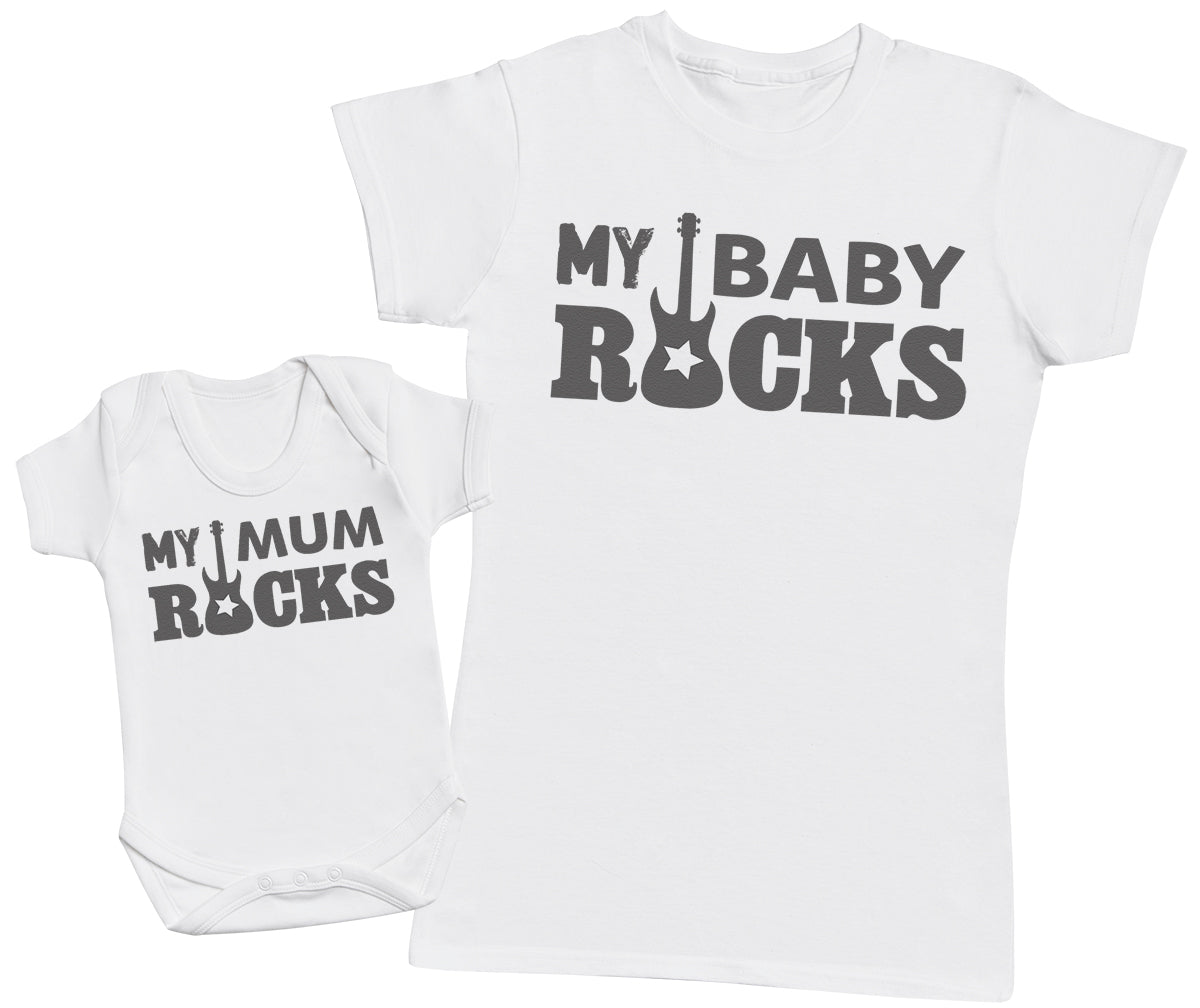 My Baby Rocks!- Mothers T-Shirt & Baby Bodysuit