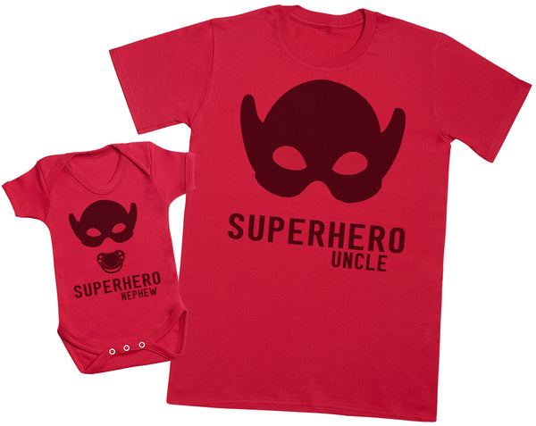 Superhero Nephew - Uncle T Shirt & Baby Bodysuit