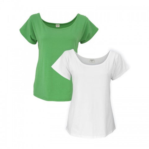 Organic Shirred Sleeve Tee