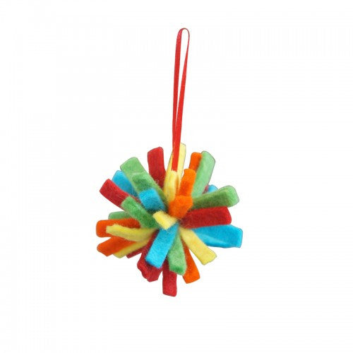 Color Burst Felt Ornament