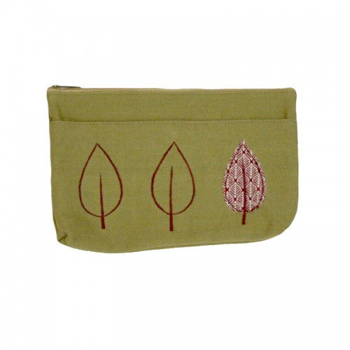 New Leaf Applique Cosmetic Case