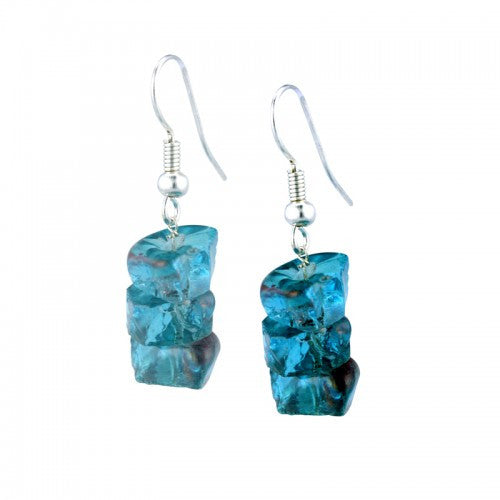 Bangladesh Recycled Glass Earrings