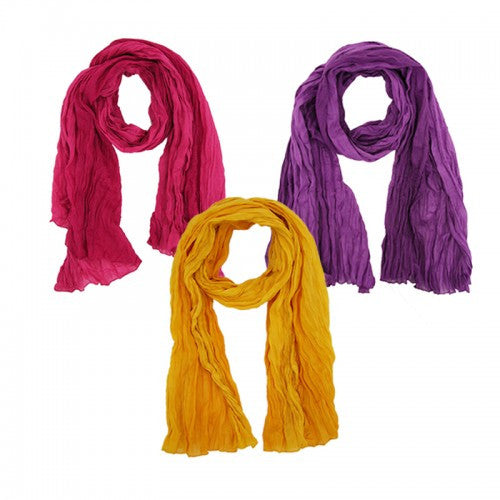 Dip Dyed Cotton Scarf
