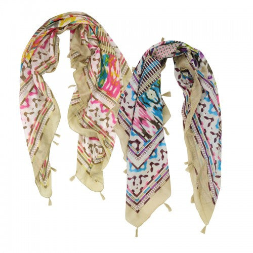 Tribal Printed Spring Scarf