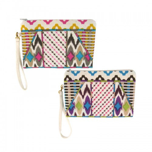 Tribal Printed Spring Clutch