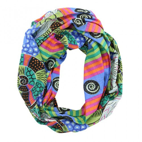 Swirls and Stripes Infinity Scarf