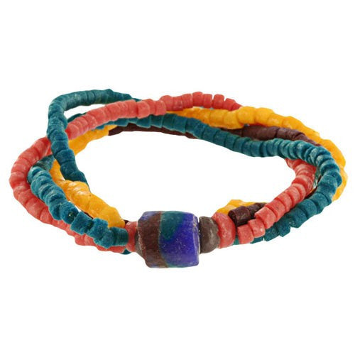 Cape Coast Recycled Glass Bracelet