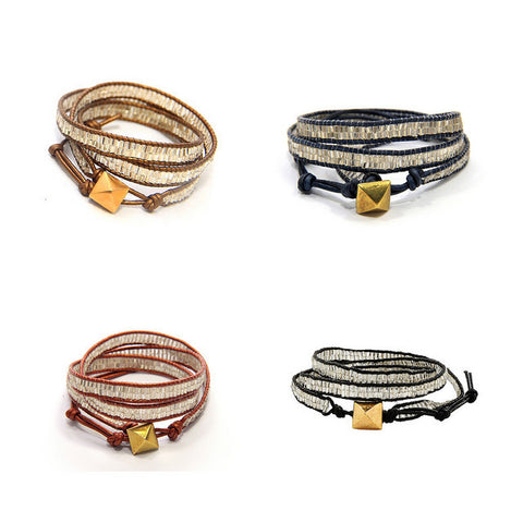 Shine On 3x Wrap Bracelet