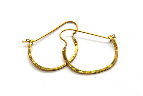 Small Sasa Hoop Brass Earrings