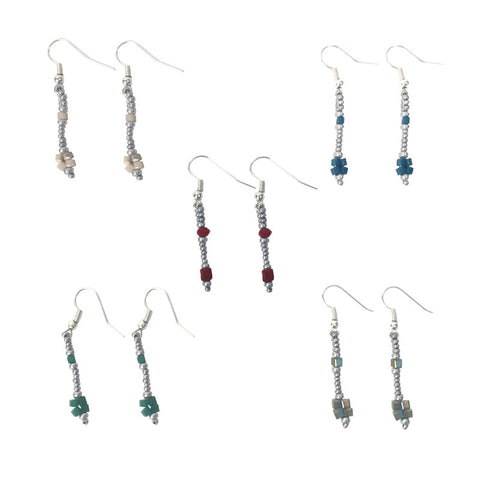 Four Square Earrings