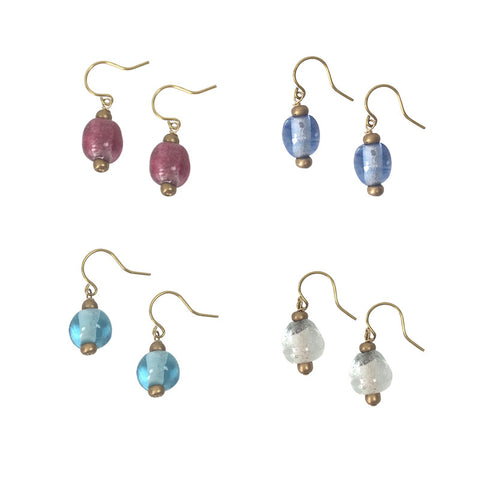 Glass Droplet Earrings