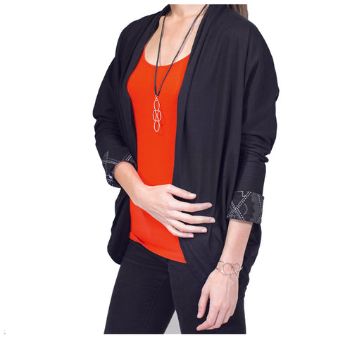 Continental Long Sleeve OS Shrug