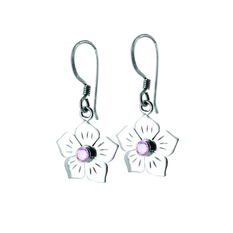 Radiant Bloom Sterling Silver Earrings