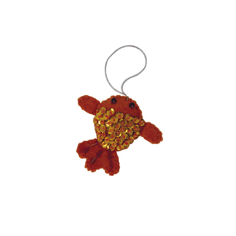 Sequin Goldfish Ornament