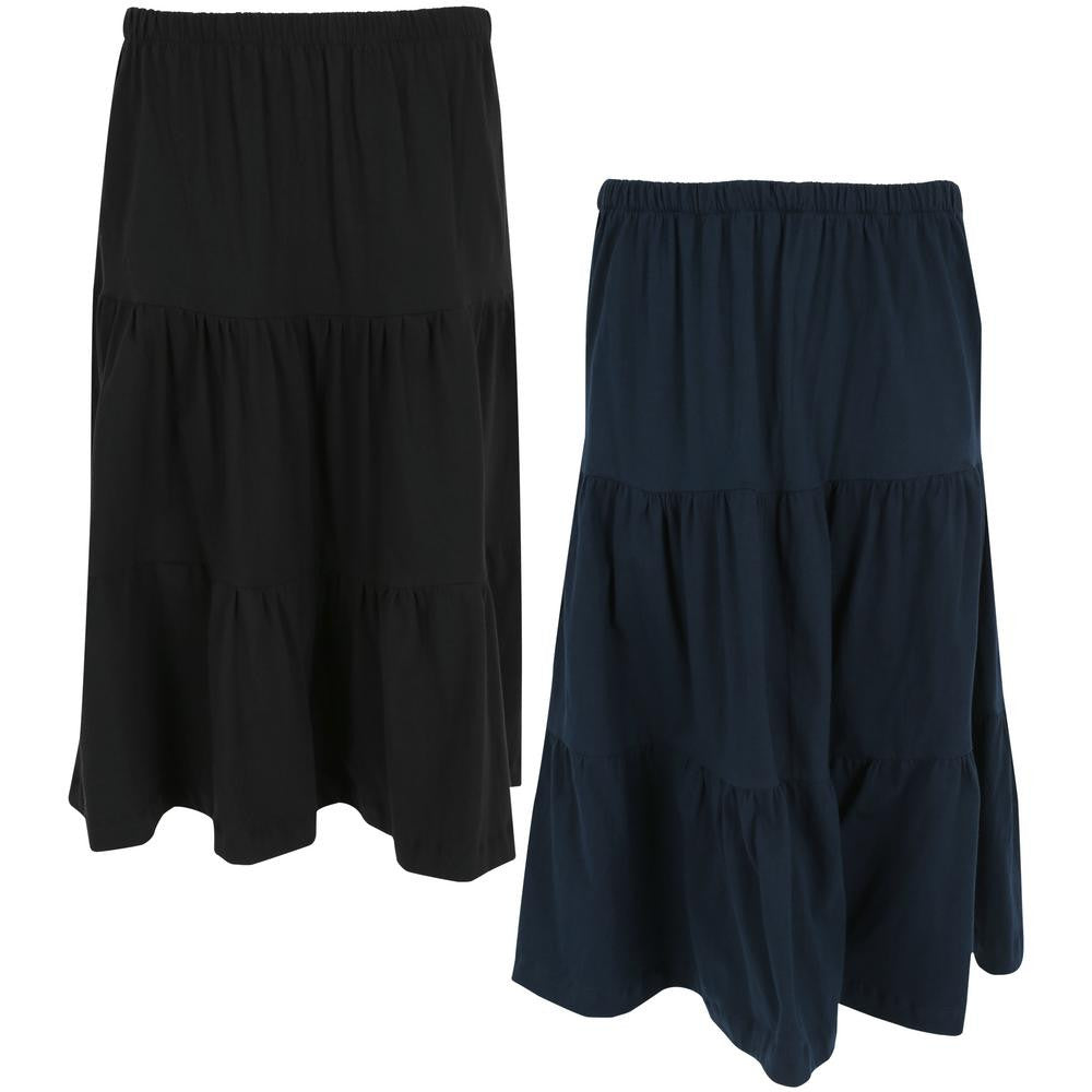 Organic Tiered Travel Skirt