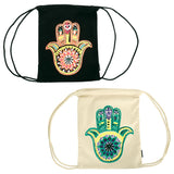 Bohemian Hamsa Drawstring Backpack