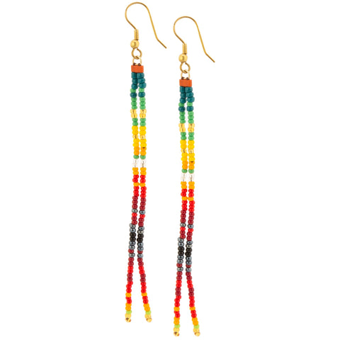 Double Rainbow Beaded Earrings