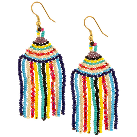 Fringe Multi Beaded Earring