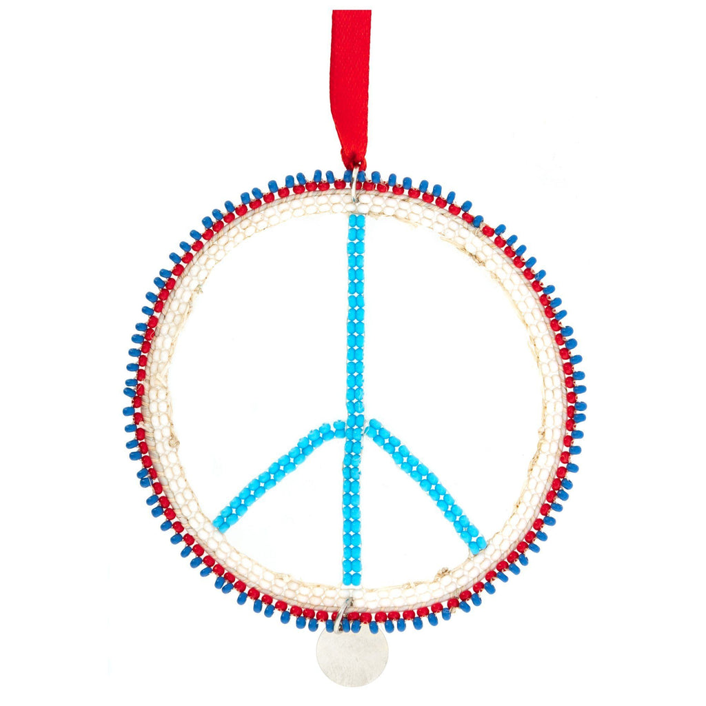 Kenyan Beaded Peace Ornament