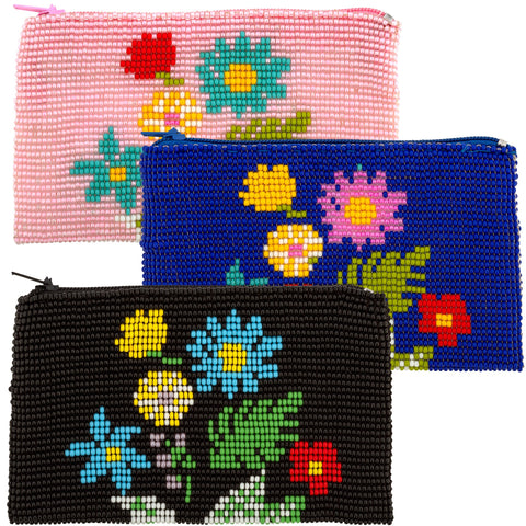 Wildflower Beaded Coin Purse