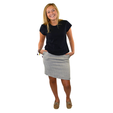 Ugandan Woven Pencil Skirt