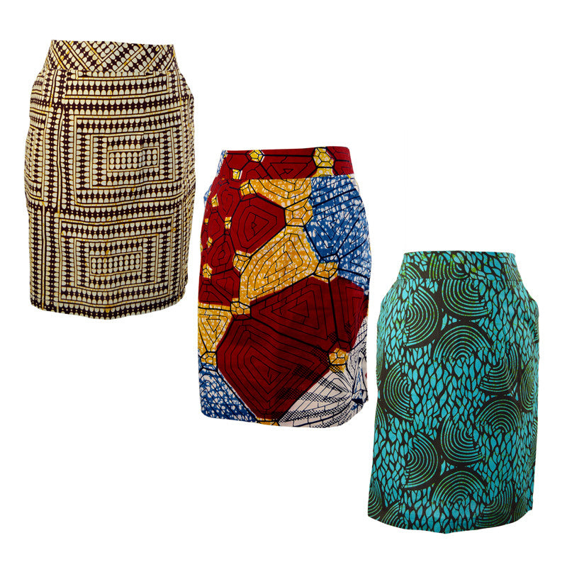African Kitenge Pencil Skirt