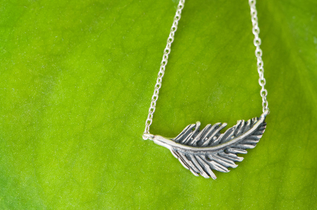 One For Good Feather Necklace