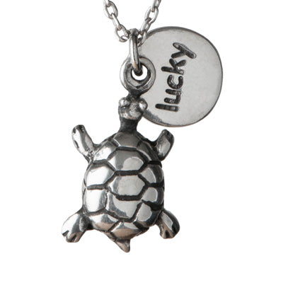 Keep On Swimming Lucky Turtle Necklace