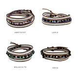 Stone 3x Wrap Earth Collection Bracelet