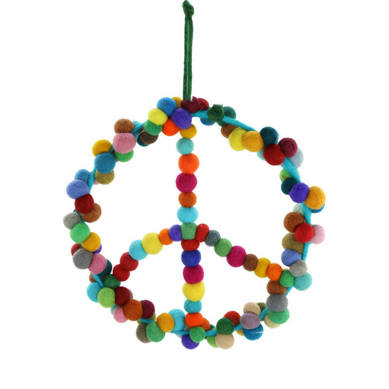 Felt Peace Wreath