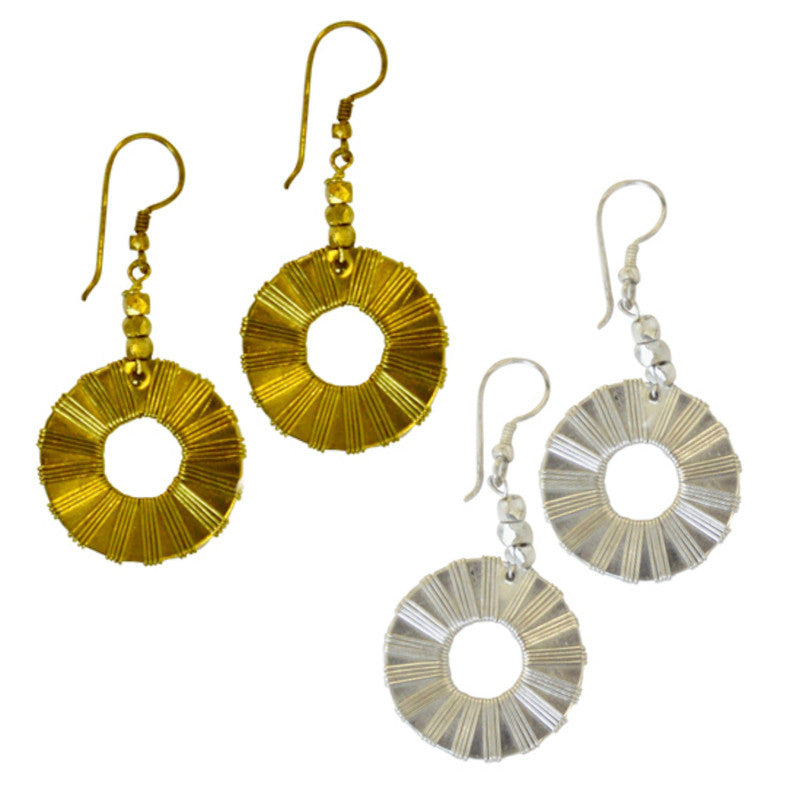 New Dimensions Circle Earrings