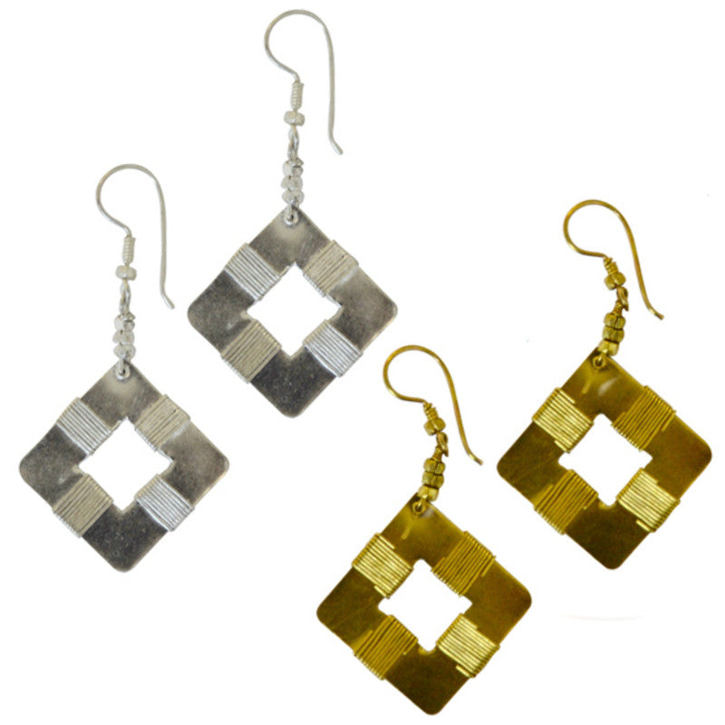New Dimensions Square Earrings