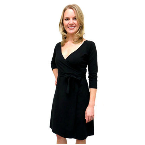 Organic Travel Wrap Dress